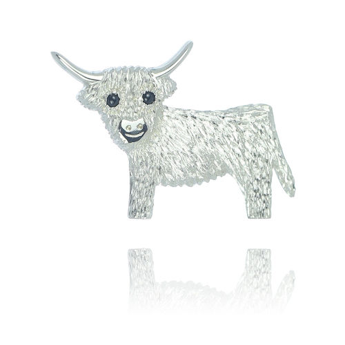 Highland Cow Brooch by Andrew McCallum Jewellery