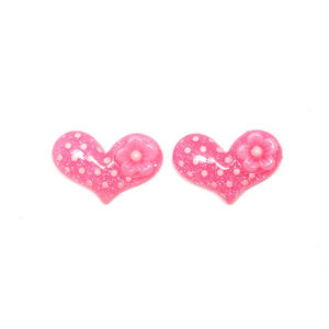 Pink Hearts with White Spots