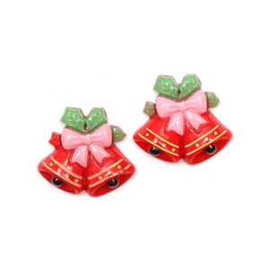 Red Christmas bells clip-on earrings